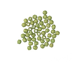 Czech Fire Polished Glass Pacifica Avocado Round 2mm