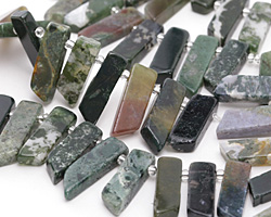Fancy Jasper Stick Slice Focal Set 9-11x26-35mm