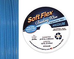 "Soft Flex Blue Topaz .019"" (Medium) 49 Strand Wire 10ft."