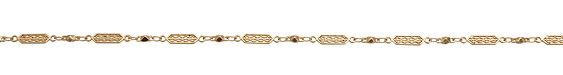 Satin Hamilton Gold (plated) Ornate Chain
