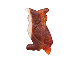 Carnelian (natural matte) Carved Owl 33-36x20-22mm