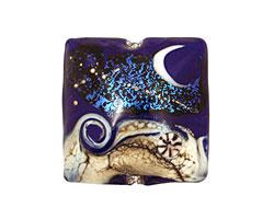 Grace Lampwork Cobalt Celestial Pillow 26mm