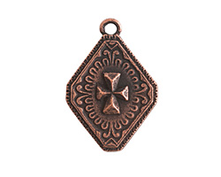 Nunn Design Antique Copper (plated) Imperial Cross Charm 19x27mm