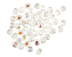 Czech Fire Polished Glass Crystal AB Round 3mm