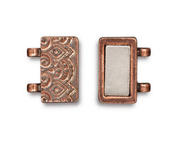 TierraCast Antique Copper (plated) Temple Magnetic Clasp Set 17x17mm