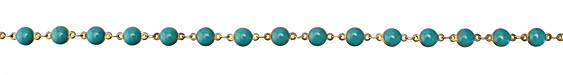 Zola Elements Green Turquoise Coin Link Brass Chain