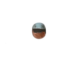 Greek Ceramic Raku Metallic Frosted Copper Small Round 8mm
