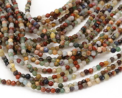Multi Gemstone Faceted Round 3mm