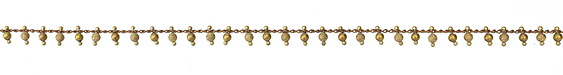 Zola Elements Stardust & Smooth Bead Drops Brass Chain