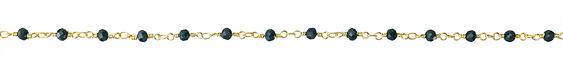 Spruce Crystal 4mm Gold Finish Bead Chain