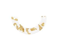 Zola Elements Gold Foil Acetate U-Shape Link 30x15mm
