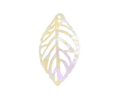 Zola Elements Opal Acetate Openwork Leaf Focal 22x38mm