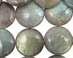 Labradorite Puff Coin 18mm