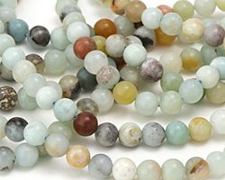 Black Gold Amazonite Round 6-7mm