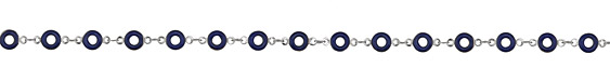 Zola Elements Cobalt Ring Silver Finish Chain