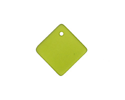 Olive Recycled Glass Curved Diamond Square Pendant 18mm