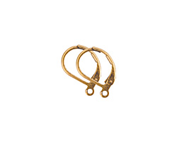 Nunn Design Antique Gold (plated) Small Leverback Earwire 10x13mm