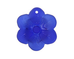 Royal Blue Recycled Glass 6 Petal Flower 29mm
