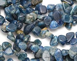 Pacific Blue Apatite Freeform Nugget Drop 6-11x9-13mm