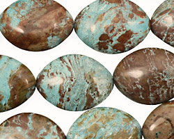 Blue Calsilica Jasper Horse Eye 19x14-15mm