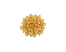Transparent Light Brown Lucite Dahlia Flower Cabochon 16mm