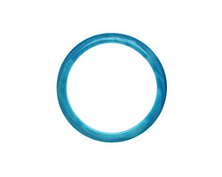 Tagua Nut Turquoise Ring 22mm