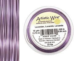 Artistic Wire Lavender 22 gauge, 15 yards