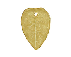 Lucite Olivine Small Ivy Leaf 18x26mm