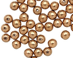 Czech Glass Bronze Round 6mm