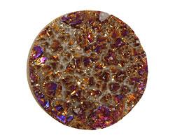 Druzy (metallic purple) Round Cabochon 30mm
