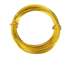 Artistic Wire Aluminum Gold 12 Gauge, 12 meters