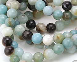 Black Gold Amazonite Round 10mm