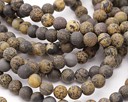 Artistic Stone (matte-dark) Round 6mm