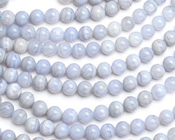 Blue Lace Agate Round 8mm