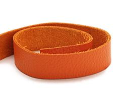 """TierraCast Orange Leather Strap 10"""" x 1/2"""""""