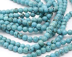 Turquoise Blue Magnesite Round 6mm