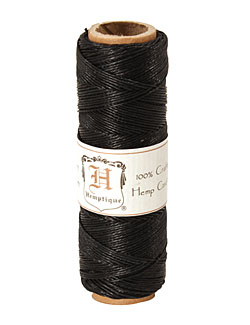 Black Hemp Twine 10 lb, 205 ft