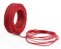 Red Waxed Thai Knotting Cord 1mm, 75 ft
