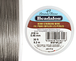 "Beadalon Bright .018"" 49 Strand Wire 30ft."