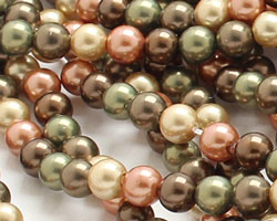 Harvest Shell Pearl Mix Round 4mm