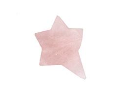 Rose Quartz Rough Cut Starburst Focal 25-30x31-36mm