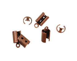 Antique Copper (plated) Foldover Crimp End 11x5mm