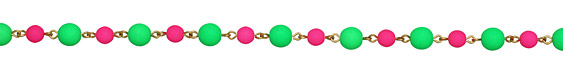Czech Glass Round Pink Watermelon Gold (plated) Bead Chain