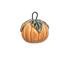 Earthenwood Studio Ceramic Pumpkin Charm 16x19mm