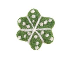 Green Felt Snowflake 45mm