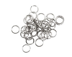 Artistic Wire Non-Tarnish Silver Chain Maille Jump Ring 5.95mm, 18 gauge