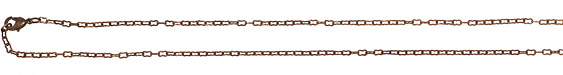 Vintaj Vogue Finished Flat Link Chain 18""