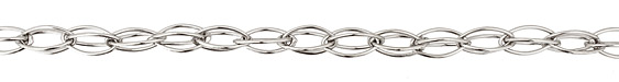 Silver (plated) Interlocking Horse Eye Chain