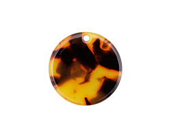 Zola Elements Tortoise Shell Acetate Coin Charm 20mm