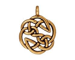 TierraCast Antique Gold (plated) Open Knot Pendant 23x30mm